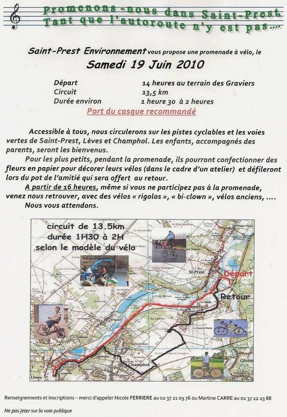 sortie vélo du 19 06 2010 invitation