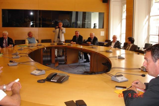 Réunion au ministère de l'Ecologie - 20 septembre 2012