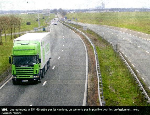 Image - A154 désertée par camions