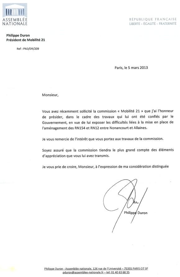 Image Courrier du Président du Comité 21