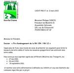 Image Vignette Courrier Fin d'aménagement de la RN 154 / RN 12