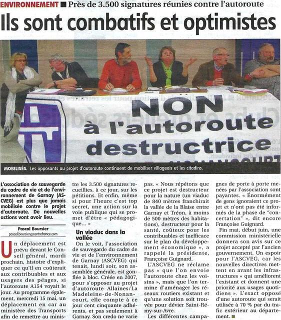 Article Assemblée Générale ASCVEG