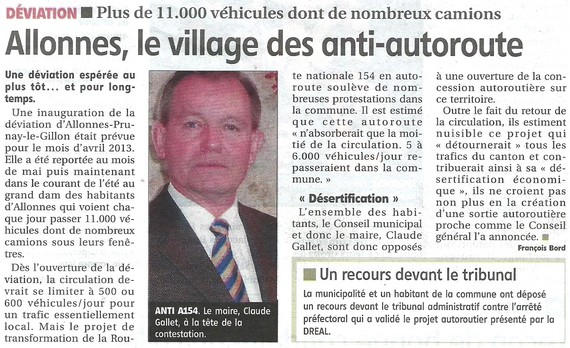 Article : Allones le village des anti-autoroute