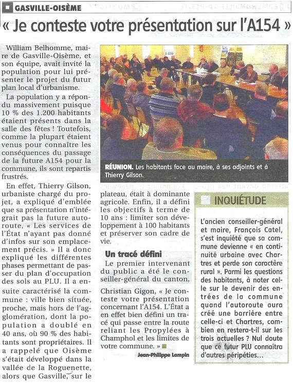Article Futur PLU Gasville / Oisème