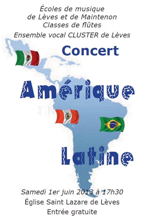 Affiche Concert Amérique Latine