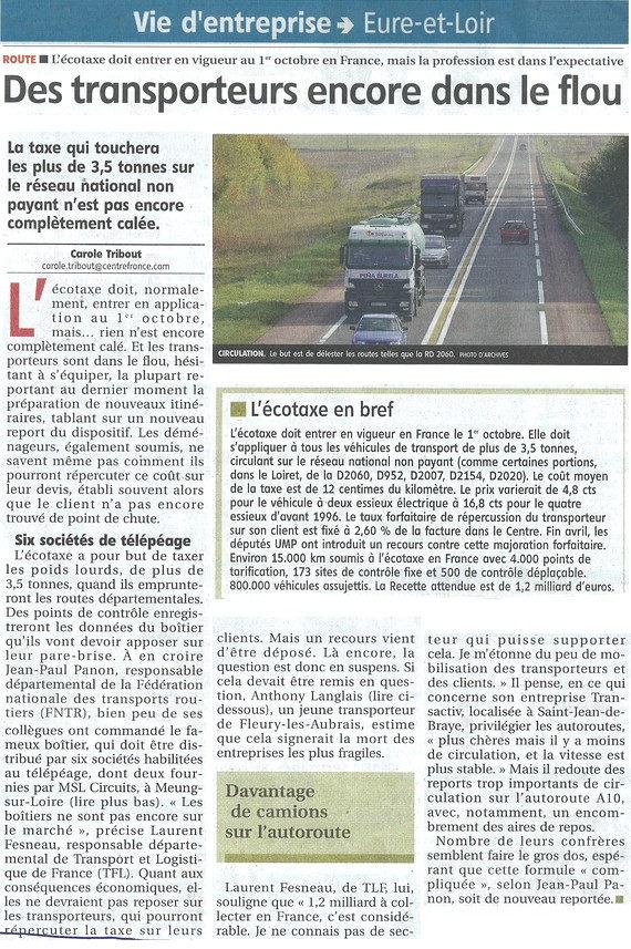 Article Des transporteurs encore dans le flou
