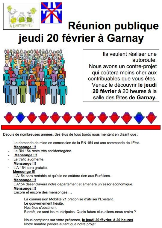 Affiche réunion Garnay