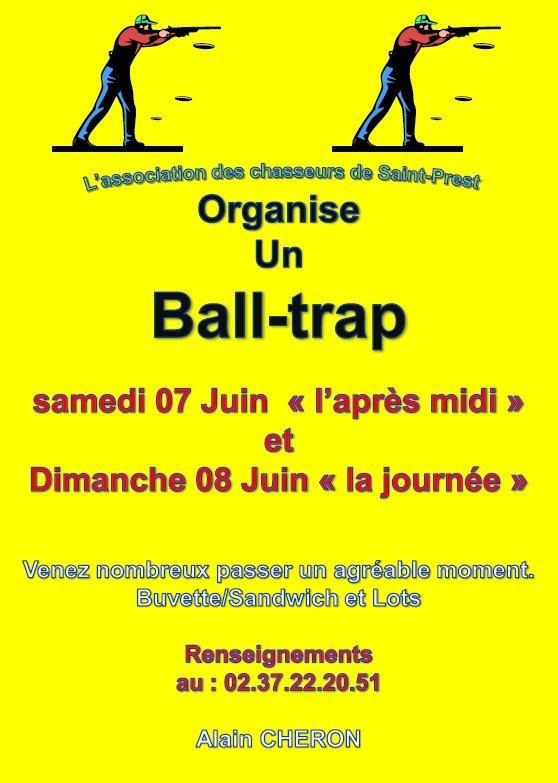 Affiche BALL-TRAP Saint-Prest