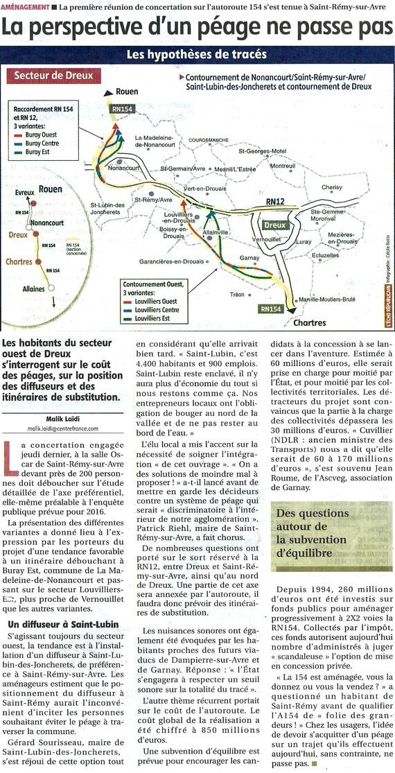 RN 154 - Réunion de concertation à Saint-Rémy-sur-Avre
