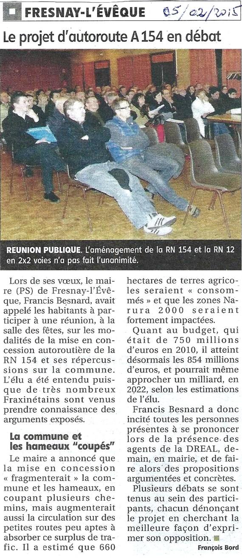 Fresnay L'Evêque :: L'autoroute A154 fait débat