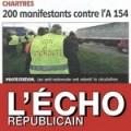 200 manifestant contre l A154