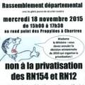 Non a la privatisation des RN154 et RN12 b