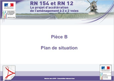 Pièce B - Plan de situation (Version mars 2016 - Concertation inter-services)