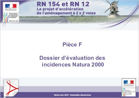 Pièce F - Dossier d'évaluation des incidences Natura 2000