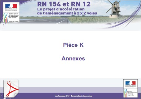 Pièce K - Annexes