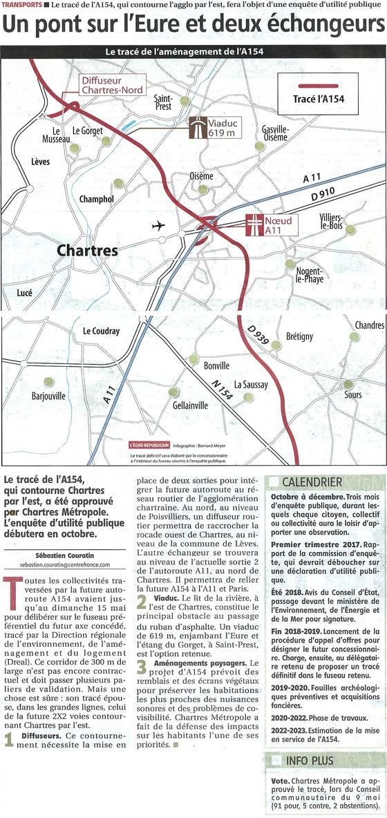 a154 un pont sur l Eure et 2 echangeurs