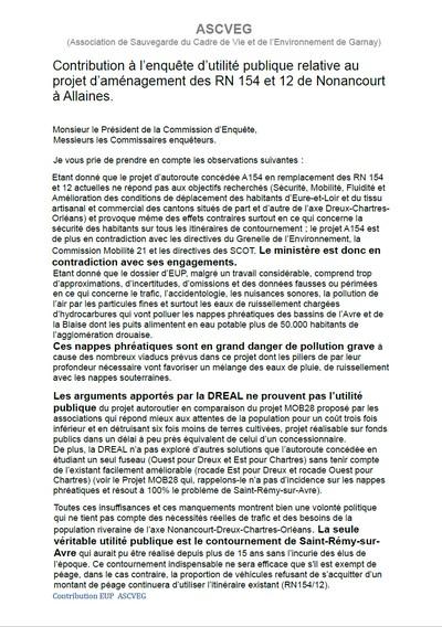 EUP contribution ASCVEG