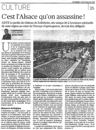 C'est l'Alsace qu'on assassine !