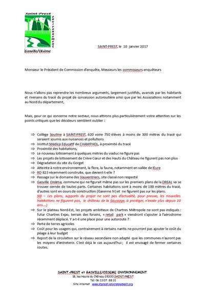 EUP Contribution St-Prest et Gasville-Oisème Environnement