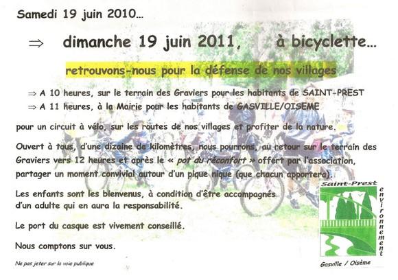 Invitation à la sortie vélo