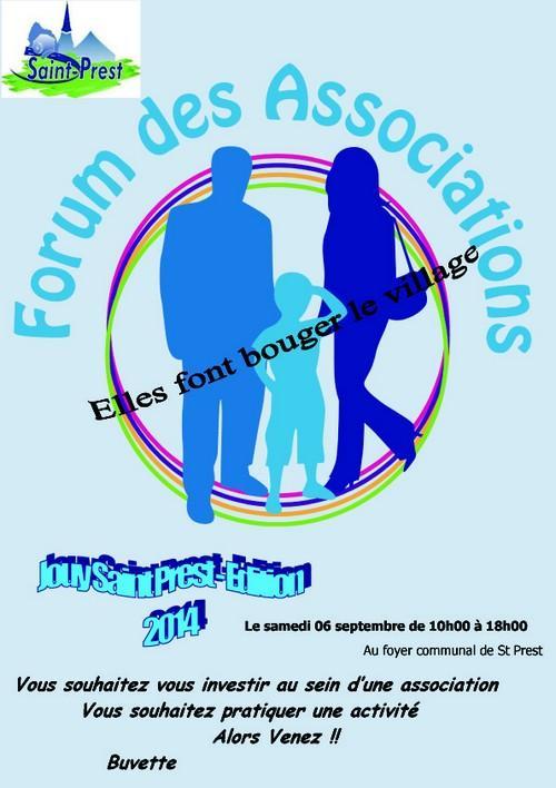 affiche forum St Prest 2014
