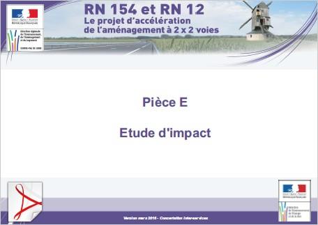 Pièce E - Etude d'impact