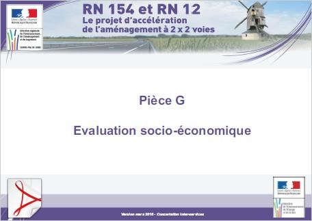 Pièce G - Evaluation socio-économique