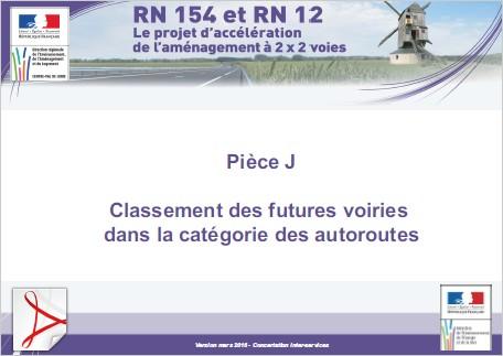 Pièce J - Classement des futures voiries dans la catégorie des autoroutes